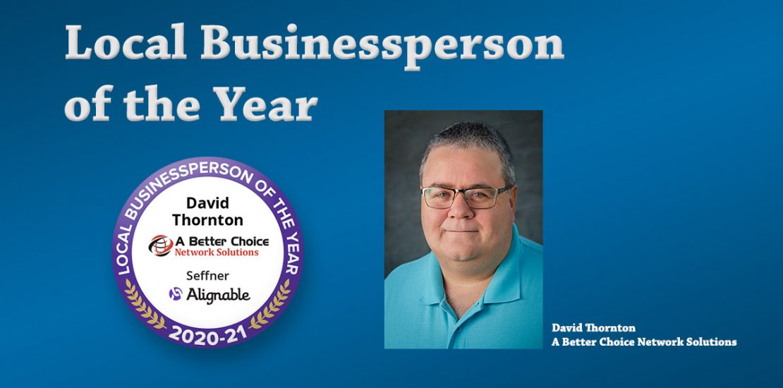 Small Businessperson of the Year, David Thornton